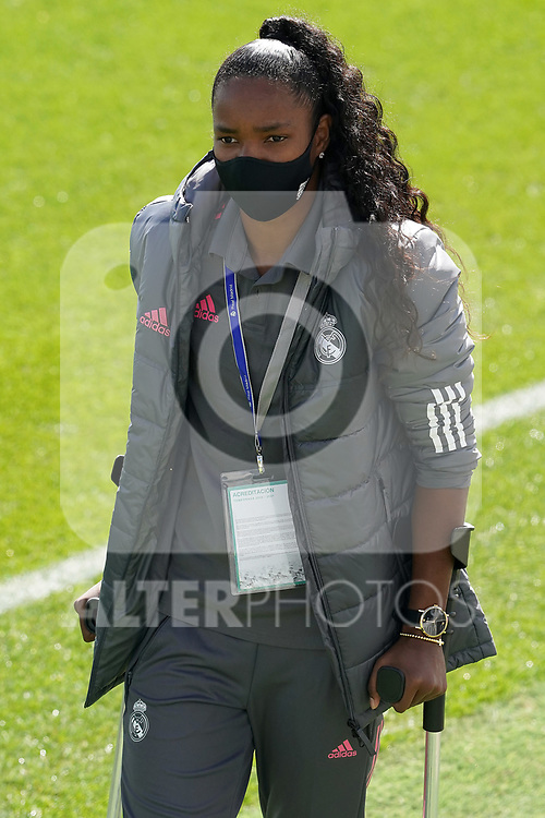 First official match and first classic in the history of women's Real Madrid.<br /> Real Madrid's Chi Ubogagu during Spanish Female League match. October 4,2020. (ALTERPHOTOS/Acero)