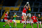 Mark Keane, Cork, in action against Jack Barry, Kerry during the Munster GAA Football Senior Championship Semi-Final match between Cork and Kerry at Páirc Uí Chaoimh in Cork.