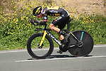 Primoz Roglic (SLO) Team Jumbo-Visma in action during Stage 1 of the Itzulia Basque Country 2021, an individual time trial running 13.9km from Bilbao to Bilbao, Spain. 5th April 2021.  <br /> Picture: Luis Angel Gomez/Photogomezsport   Cyclefile<br /> <br /> All photos usage must carry mandatory copyright credit (© Cyclefile   Luis Angel Gomez/Photogomezsport)