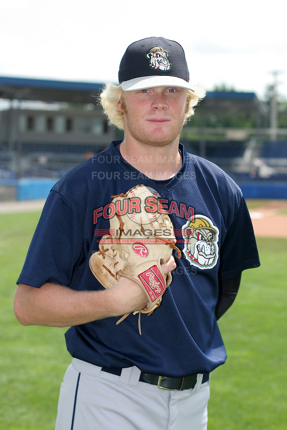 Mahoning Valley Scrappers Matt Meyer poses for a photo before a NY-Penn League game at Dwyer Stadium on July 30, 2006 in Batavia, New York.  (Mike Janes/Four Seam Images)