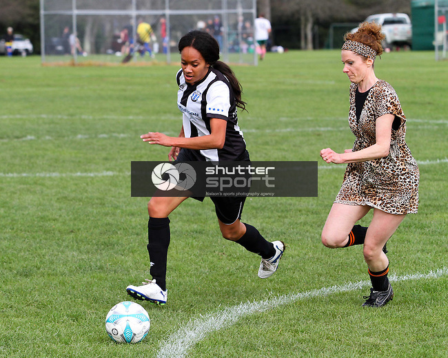 Football, SI Masters Games, 5 October 2013, Nelson, New Zealand<br /> Photo: Marc Palmano/shuttersport.co.nz