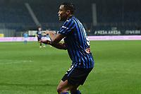 Luis Muriel of Atalanta BC celebrates after scoring the goal of 3-1 during the Serie A football match between Atalanta BC and SSC Napoli at stadio azzurri d'Italia in Bergamo (Italy), February 21th, 2021. Photo Daniele Buffa / Image Sport / Insidefoto