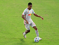 WASHINGTON, DC - SEPTEMBER 12: Jason Pendant #24 of the New York Red Bulls dribbles during a game between New York Red Bulls and D.C. United at Audi Field on September 12, 2020 in Washington, DC.