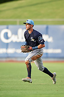 Charlotte Stone Crabs right fielder Miles Mastrobuoni (5) during the first game of a doubleheader against the St. Lucie Mets on April 24, 2018 at First Data Field in Port St. Lucie, Florida.  St. Lucie defeated Charlotte 5-3.  (Mike Janes/Four Seam Images)