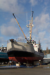 """Commercial fishing, Port Townsend, Port of Port Townsend, Boat Haven Marina, boat harbor, salmon packer, """"Robert S"""", Jefferson County, Olympic Peninsula, Washington State, Pacific Northwest, USA,"""