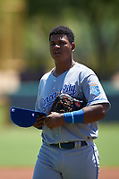 AZL Royals first baseman Felix Familia (7) during an Arizona League game against the AZL Dodgers Lasorda on July 4, 2019 at Camelback Ranch in Glendale, Arizona. The AZL Royals defeated the AZL Dodgers Lasorda 4-1. (Zachary Lucy/Four Seam Images)