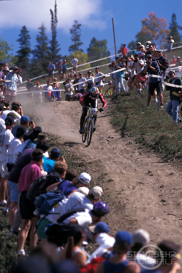 John Tomac.Downhill.World Championships Vail Colorado USA 1994.pic © Steve Behr/Stockfile