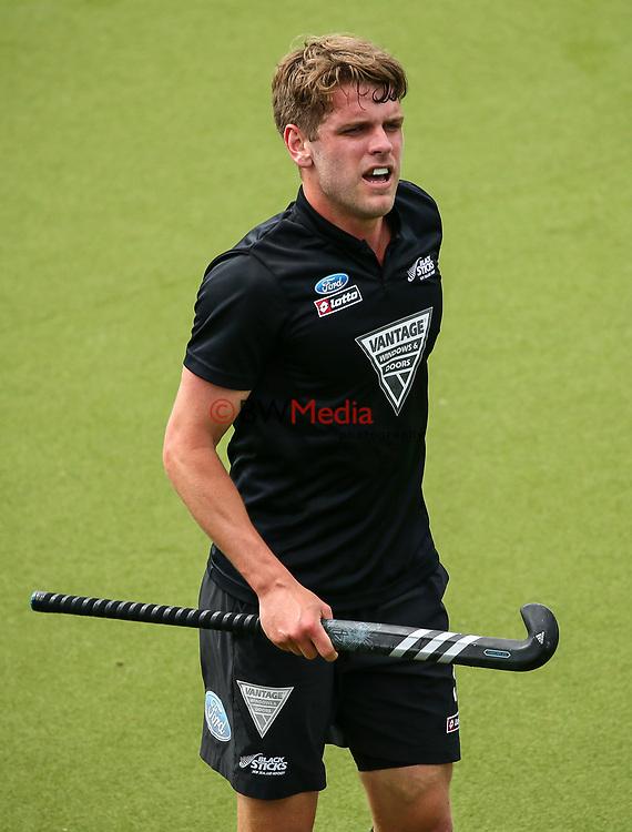 Harry Miskimmim. International Hockey, Blacksticks men v Canada. Lloyd Elsmore Park, Auckland, New Zealand. Saturday 20 October 2018. Photo: Simon Watts/Hockey NZ