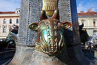 Zolnay Bull's head fountain, Pecs ( Pécs ) - European Cultural City of The Year 2010 , Hungary