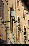 Spiked Lantern and 13th-14th c. Late Gothic Houses, Piazza del Campo, Siena, Italy