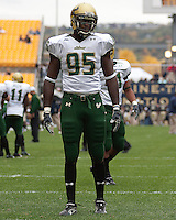 South Florida defensive end George Selvie. The Pittsburgh Panthers defeated the South Florida Bulls 41-14 at Heinz Field, Pittsburgh, PA on October 24, 2009.