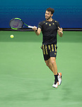 August 28,2019:   Juan Ignacio Londero (ARG) loses to Novak Djokovic (SRB) 6-4, 7-6, 6-1, at the US Open being played at Billie Jean King National Tennis Center in Flushing, Queens, NY.  ©Jo Becktold/CSM