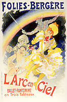 Reproduction of a poster advertising 'The Rainbow', a ballet-pantomime presented by the Folies-Bergere, 1893 (colour litho), Cheret, Jules (1836-1932)