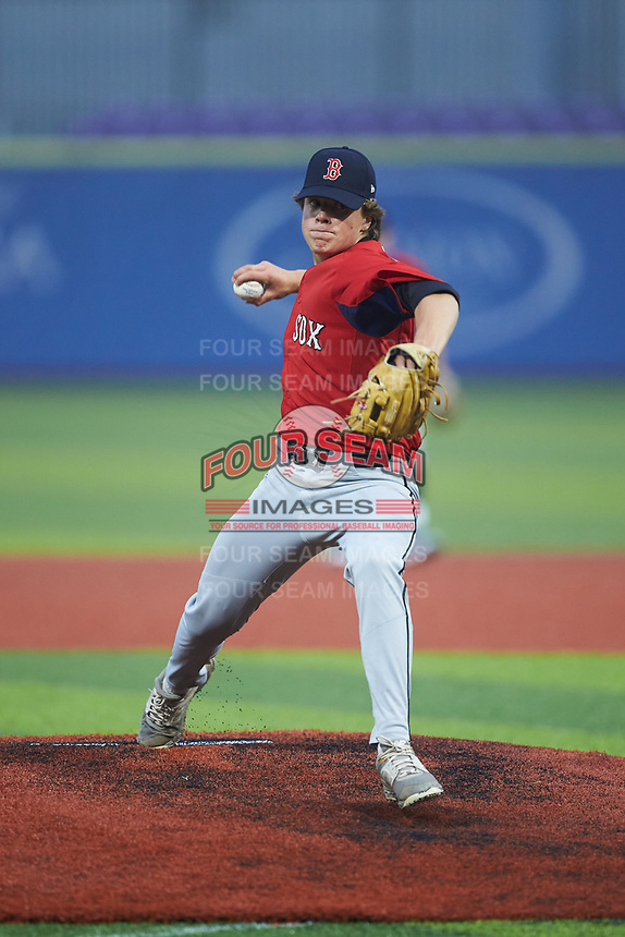 Ayden Johnson of Rockingham County High School (NC) playing for the Red Sox scout team during the South Atlantic Border Battle Futures Game at Truist Point on September 25, 2020 in High Pont, NC. (Brian Westerholt/Four Seam Images)