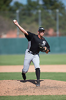 Chicago White Sox relief pitcher Devan Watts (39) delivers a pitch during an Instructional League game against the Oakland Athletics at Lew Wolff Training Complex on October 5, 2018 in Mesa, Arizona. (Zachary Lucy/Four Seam Images)