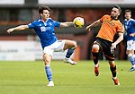 Dundee United v St Johnstone…..01.08.20   Tannadice  SPFL<br />Danny McNamara and Nicky Clark<br />Picture by Graeme Hart.<br />Copyright Perthshire Picture Agency<br />Tel: 01738 623350  Mobile: 07990 594431