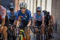 later winner Elisa Balsamo (ITA/Valcar-Travel and Service)in the peloton up the Sint-Antoniusberg<br /> <br /> Women Elite – Road Race (WC)<br /> Race from Antwerp to Leuven (157.7km)<br /> <br /> ©kramon