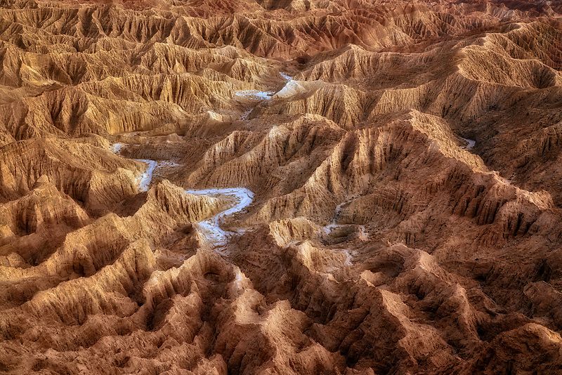 Desert badlands at Font's Point. Anza Borrego State Park, California