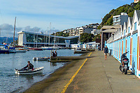 Oriental Bay boatsheds on Queens Birthday weekend inWellington, New Zealand on Sunday, 31 May 2020. Photo: Dave Lintott / lintottphoto.co.nz