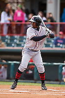 Richmond Flying Squirrels shortstop Rando Moreno (17) at bat during a game against the Erie Seawolves on May 20, 2015 at Jerry Uht Park in Erie, Pennsylvania.  Erie defeated Richmond 5-2.  (Mike Janes/Four Seam Images)