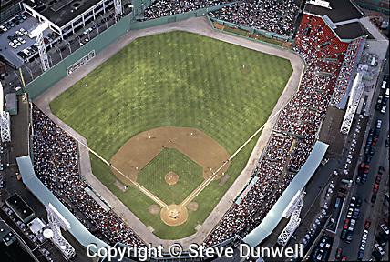 Fenway Park aerial view, Boston, MA