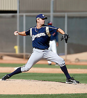 Robert Hinton - Milwaukee Brewers - 2009 spring training.Photo by:  Bill Mitchell/Four Seam Images