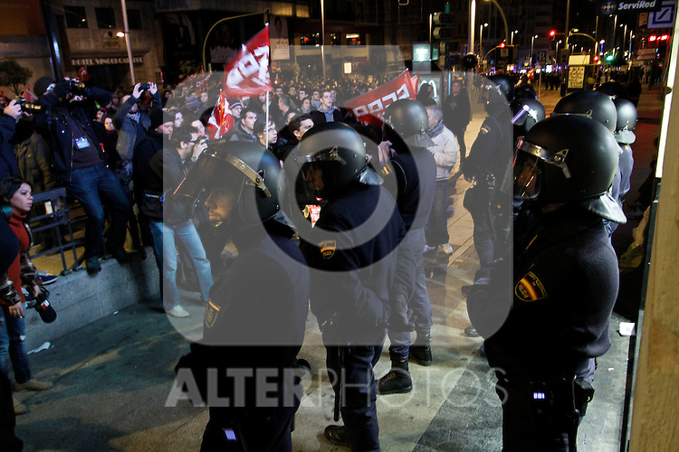 European General Strike.Some members of the Riot Police.November 14,2012. (ALTERPHOTOS/Carlos Rojo)