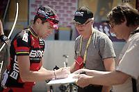 Cadel Evans (AUS) at the start<br /> <br /> Tour de France 2013<br /> stage 16: Vaison-la-Romaine to Gap, 168km