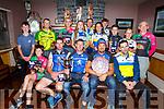 At the TT Championship Cycling awards in O'Riada's Bar Ballymac on Thursday evening. <br /> Front l-r, Brian Hanafin (Killarney), Ed Murphy, Denis Lynch and Richard Cleverly (Sliabh Luachra) with George Doyle (Tralee BC).<br /> Back l-r, Aaron O'Donoghue (Killarney), Mike O'Shea (Killorglin CC), John Crowley (Killarney), Alva Kissane (Arcane), Susan O'Sullivan (Tralee BC), Josh Sheridan (Killarney CC), Ava O'Callaghan (Killarney), Tom Daly (Killarney), Kieran Coggins (Tralee BC) and Dave Kelly (Tralee BC).