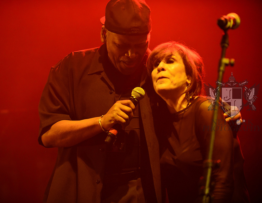 MIAMI BEACH, FLORIDA - JANUARY 18: Dwight Hawkes and Adrienne Johnson of Rockers Revenge perform on stage at the Fillmore Miami Beach at the Jackie Gleason Theater on January 18, 2020 in Miami Beach, Florida.  ( Photo by Johnny Louis / jlnphotography.com )
