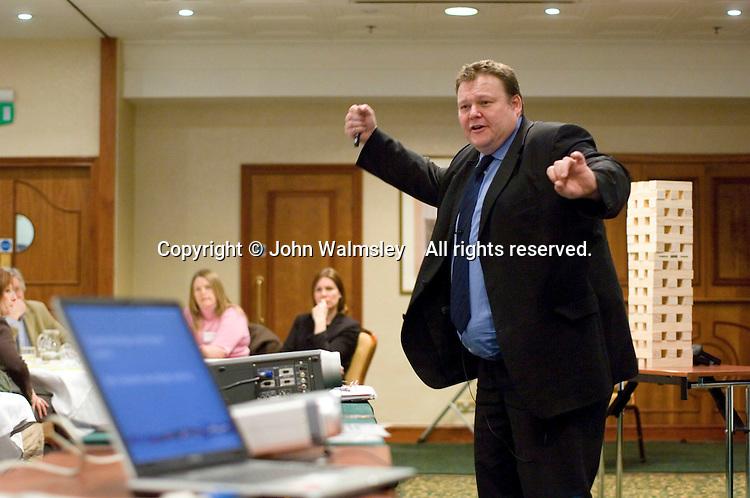 Mark Lovatt leading a LEARN2LEARN conference run by Alite Ltd. for teachers on an INSET DAY..