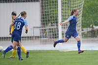 20190227 - LARNACA , CYPRUS : Finnish forward Juliette Kemppi during the celebration of her goal pictured a women's soccer game between the South African Banyana Banyana and Finland , on Wednesday 27 February 2019 at the GSZ Stadium in Larnaca , Cyprus . This is the first game in group A for both teams during the Cyprus Womens Cup 2019 , a prestigious women soccer tournament as a preparation on the Uefa Women's Euro 2021 qualification duels and the Fifa World Cup France 2019. PHOTO SPORTPIX.BE | STIJN AUDOOREN