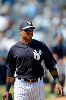 New York Yankees second baseman Robinson Cano #24 during a Spring Training game against the Pittsburgh Pirates at Legends Field on March 28, 2013 in Tampa, Florida.  (Mike Janes/Four Seam Images)