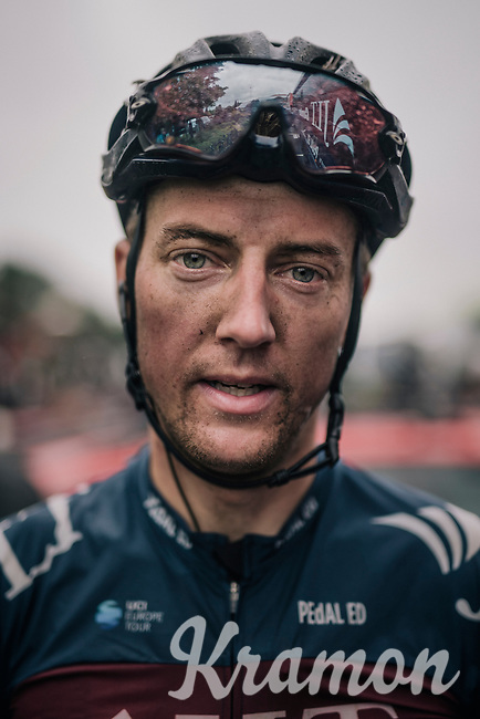 Tom Stewart (GBR/JLT-Condor) post-race<br /> <br /> Stage 7: West Bridgford to Mansfield (215km)<br /> 15th Ovo Energy Tour of Britain 2018