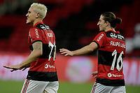 30th May 2021; Maracana Stadium, Rio de Janeiro, Brazil; Brazilian Serie A, Flamengo versus Palmeiras; Pedro of Flamengo celebrates his goal in the 75th minute 1-0
