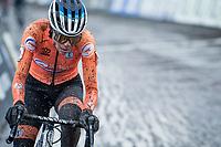 defending World Champion Ceylin del Carmen Alvarado (NED/Alpecin-Fenix)<br /> <br /> UCI 2021 Cyclocross World Championships - Ostend, Belgium<br /> <br /> Women's Race<br /> <br /> ©kramon
