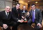 The U-16 hurling management team of Pat Mc Mahon, Niall O' Connor, Paddy Smith and Philly Walsh pictured during Éire Óg GAA's medal presentation night at the Auburn Lodge Hotel in Ennis. Photograph by Declan Monaghan
