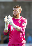 Forfar v St Johnstone…28.07.18…  Station Park    Betfred Cup<br />Zander Clark applauds the fans at full time<br />Picture by Graeme Hart. <br />Copyright Perthshire Picture Agency<br />Tel: 01738 623350  Mobile: 07990 594431