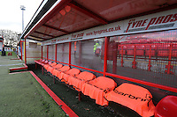 General view of the home dugout during Stevenage vs Doncaster Rovers, Sky Bet EFL League 2 Football at the Lamex Stadium on 3rd December 2016
