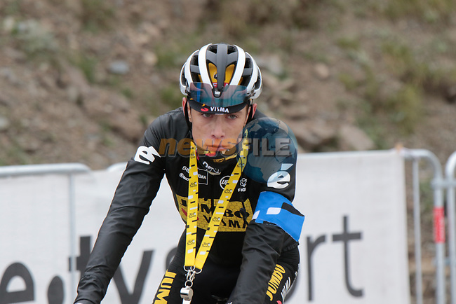 Jonas Vingegaard (DEN) Jumbo-Visma on the way back down Col du Portet after finishing 2nd on Stage 17 of the 2021 Tour de France, running 178.4km from Muret to Saint-Lary-Soulan Col du Portet, France. 14th July 2021.  <br /> Picture: Colin Flockton | Cyclefile<br /> <br /> All photos usage must carry mandatory copyright credit (© Cyclefile | Colin Flockton)