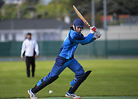 Action from the Ewen Chatfield One-day Trophy Wellington premier division one cricket match between Karori and Hutt District at Miramar Park in Wellington, New Zealand on Saturday, 14 November 2020. Photo: Dave Lintott / lintottphoto.co.nz