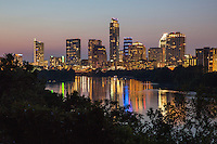 """The color of the hills and downtown Austin sky to the west at sunset has long been described as Austin's """"Violet Crown."""""""