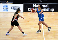 Action from the 2019 Schick AA Girls' Secondary Schools Basketball Premiership National Championship match between Manukura and Napier Girls' High School at the Central Energy Trust Arena in Palmerston North, New Zealand on Monday, 30 September 2019. Photo: Dave Lintott / lintottphoto.co.nz