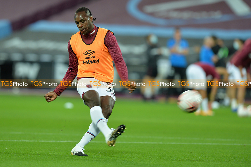 Michail Antonio of West Ham United during West Ham United vs Newcastle United, Premier League Football at The London Stadium on 12th September 2020