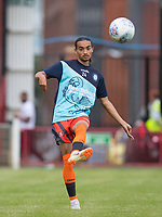 Randell Williams (on loan from Watford) of Wycombe Wanderers pre match during the 2018/19 Pre Season Friendly match between Maidenhead United and Wycombe Wanderers at York Road, Maidenhead, England on 27 July 2018. Photo by Andy Rowland.