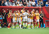 Vancouver, Canada - July 5, 2015:  The USWNT defeated Japan 5-2 to win the FIFA Women's World Cup at BC Place.