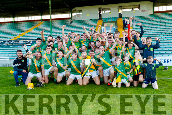 The Kilmoyley team celebrate after winning the Kerry County Senior Hurling Championship Final match between Kilmoyley and Causeway at Austin Stack Park in Tralee