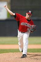 Jake Brigham #12 of the Hickory Crawdads in action versus the West Virginia Power at L.P. Frans Stadium June 21, 2009 in Hickory, North Carolina. (Photo by Brian Westerholt / Four Seam Images)
