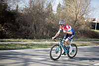 Dutch Road Champion Mathieu Van der Poel (NED/Alpecin-Fenix)<br /> <br /> 53rd Le Samyn 2021<br /> ME (1.1)<br /> 1 day race from Quaregnon to Dour (BEL/205km)<br /> <br /> ©kramon