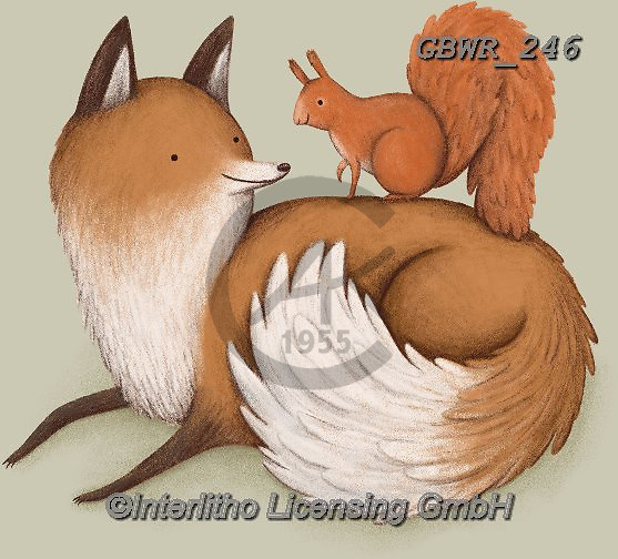 Simon, REALISTIC ANIMALS, REALISTISCHE TIERE, ANIMALES REALISTICOS, innovative, paintings+++++A_SophieC_FoxAndSquirrel,GBWR246,#a#, EVERYDAY